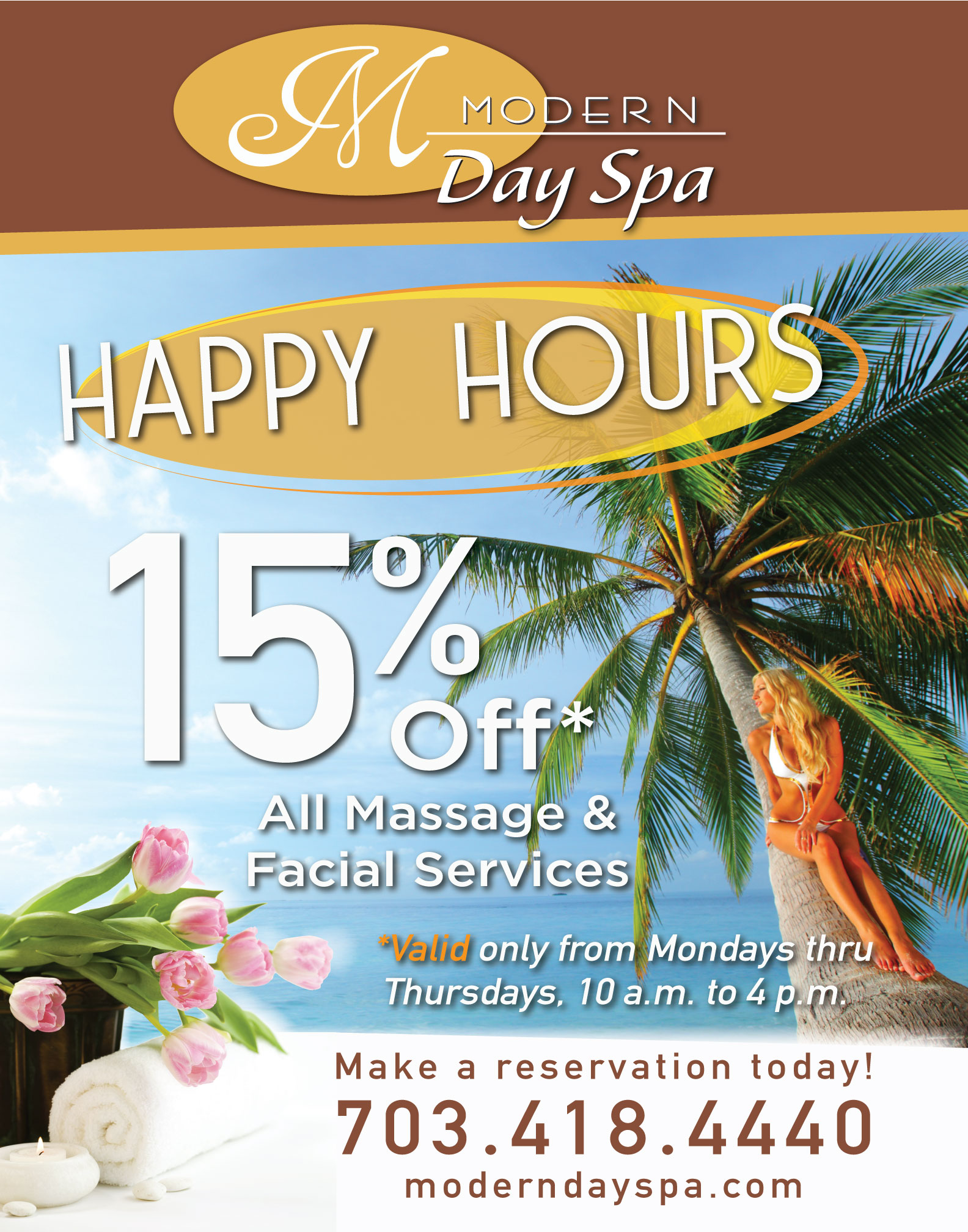 Happy Hours Specials at Modern Day Spa